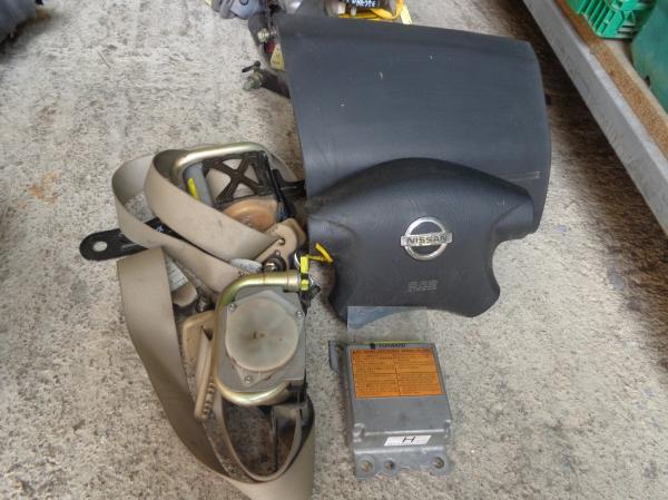 Εικόνα από Αερόσακος  Set  NISSAN X-TRAIL (2005-2007)     οδηγού-συνοδηγού, ζώνες, εγκέφαλος