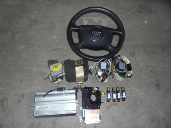 Εικόνα από Αερόσακος  Set  AUDI A6 (1998-2004)     οδηγού με τιμόνι, συνοδηγού, ζώνες εμπρός και πίσω, ταινία, εγκέφαλος