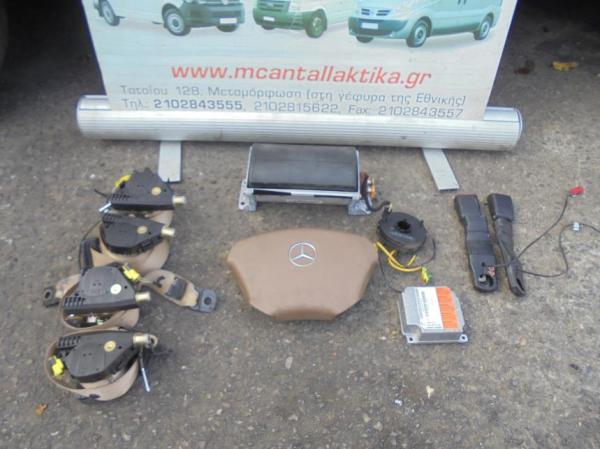 Εικόνα από Αερόσακος  Set  MERCEDES W163 ML (1998-2005)     οδηγού, συνοδηγού, 4 ζώνες, ταινία, εγκέφαλος, προεντατήρες