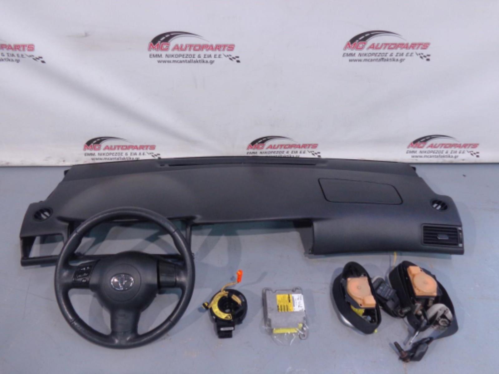 Εικόνα από Αερόσακος  Set  TOYOTA COROLLA (2002-2007)     οδηγού με τιμόνι, ταμπλό με συνοδηγού, ζώνες, ταινια, εγκέφαλος