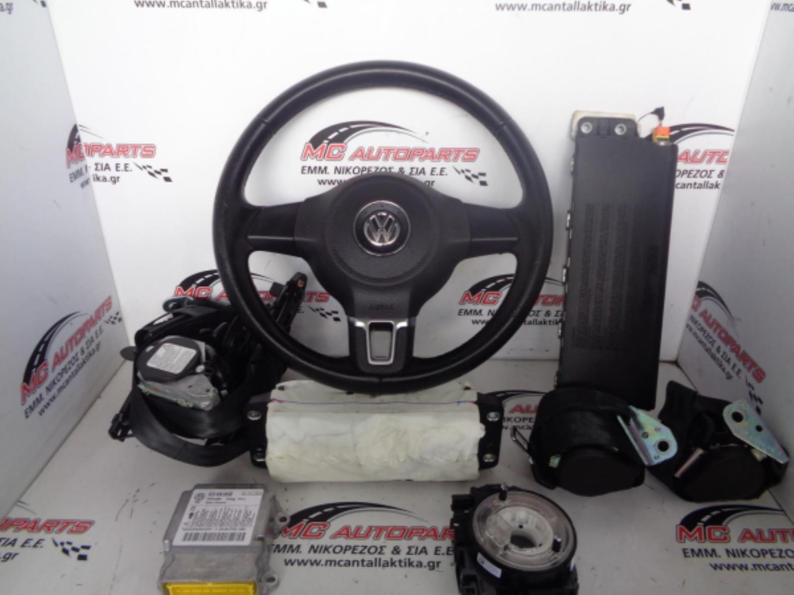 Εικόνα από Αερόσακος  Set  VW GOLF 6 (2008-2013)     οδηγού τιμόνι, συνοδηγού, ποδιών, ζώνες, ταινία, εγκέφαλος