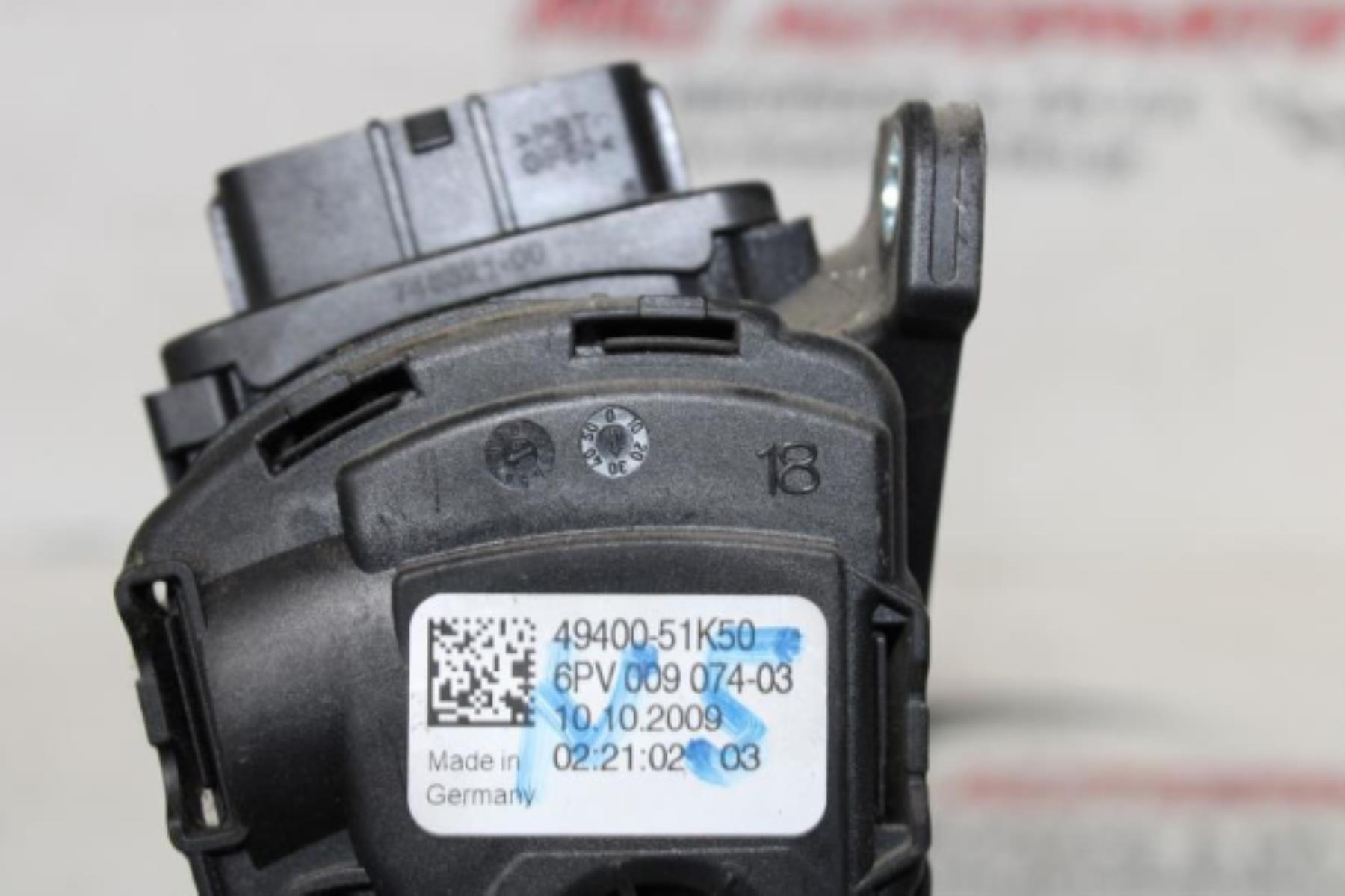 Εικόνα από Πετάλι ηλεκτρικού γκαζιού  SUZUKI SPLASH (2007-2013)  49400-51K50