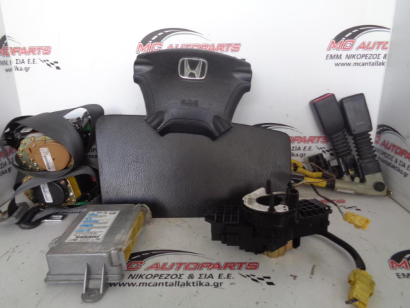 Εικόνα από Αερόσακος  Set  HONDA CR-V (2002-2007)     Οδηγού,συνοδηγού,2 ζώνες,2 προεντατήρες ζώνης,ταινία,εγκέφαλος airbag